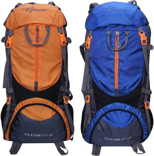 bb031e06d1 Gleam 0109 Climate Proof Mountain Trekking   Campaign   Backpack 75 ltr  Orange   Royal Blue