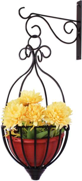 Flower vases buy glass ceramic flower vases online flipkart home sparkle wall hanging flower holder steel vase mightylinksfo