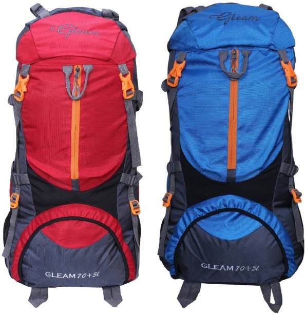 d403afb24763 Gleam 0109 Climate Proof Mountain Trekking   Campaign   Backpack 75 ltr Red    Sky Blue