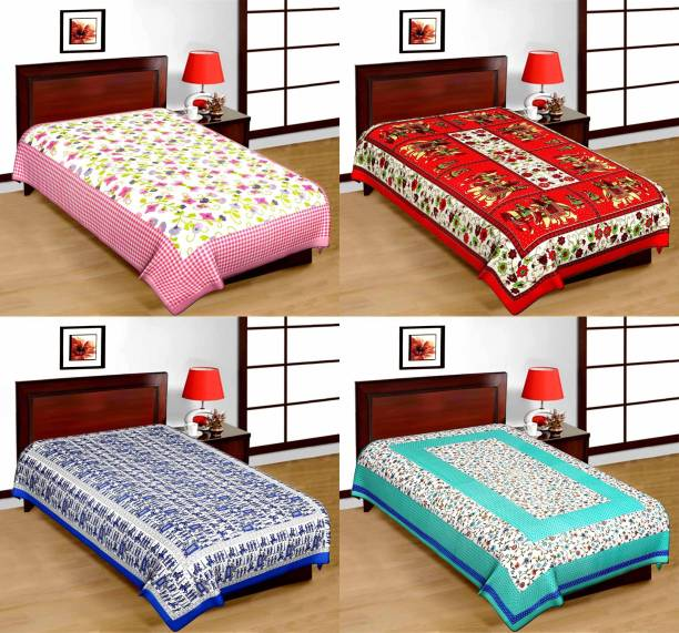 Bombay Spreads 120 TC Cotton Single Printed Bedsheet