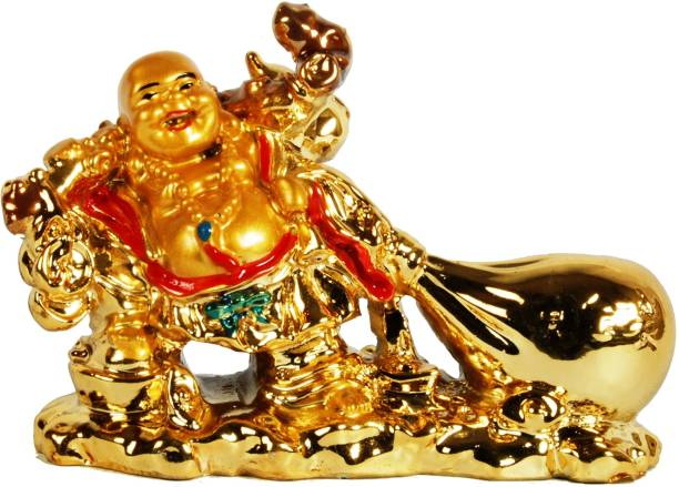 Sigaram Happy Man for Office-Desk, Table Decor, Home, shop and Car Dashboard - K530 Decorative Showpiece  -  7 cm