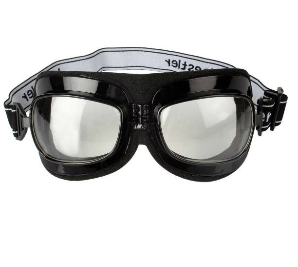 c221ee508f08 Shrih Adjustable Band Clear Glass Riding Motorcycle Goggles