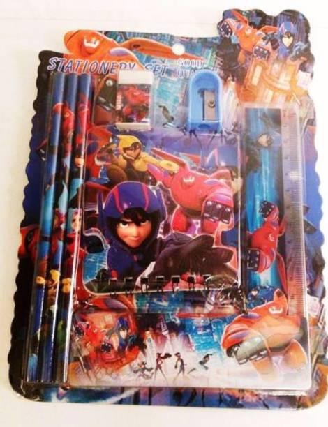 FUNCART Big Hero Stationery Set (7 Items/Pack) School Set