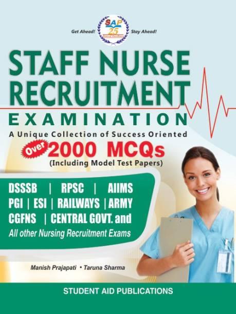 Staff Nurse Recruitment Exam, Over 2000 MCQ's