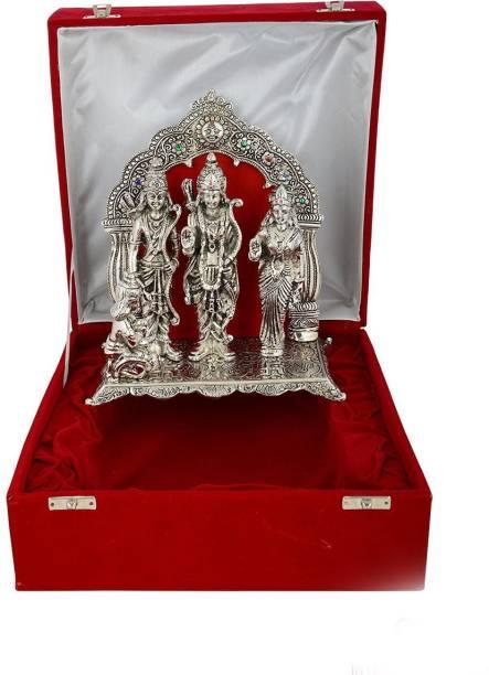 INTERNATIONAL GIFT Silver Plated Ram Darbar Statue Hindu God Idol Showpiece I Handicraft I Home Decor I Gift Item | Religious Idol Religious Tile