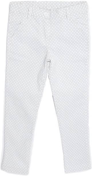 Yk Regular Fit Girls White, Grey Trousers