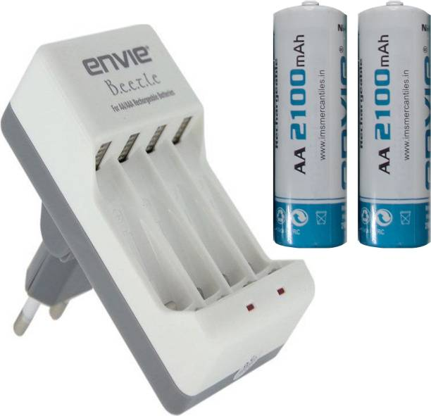 ENVIE AA 2100 mA Ni mh Rechargeable  2 Pcs.  + ECR20  1 Pc.  Camera Battery Charger