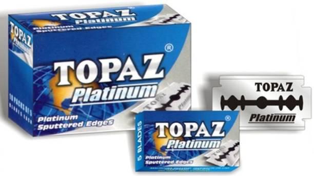 TOPAZ 200 Razor's Blades Platinum Sputtered Edges (10 tucks of 10 blades each)