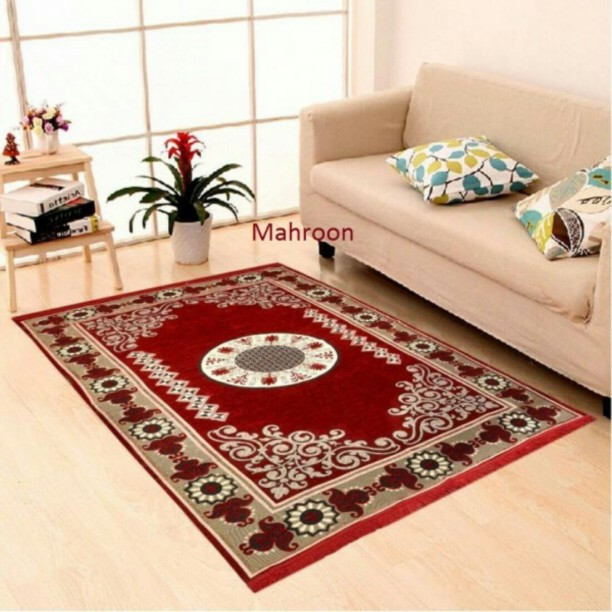 The Real Time Trendz Multicolor Chenille Carpet
