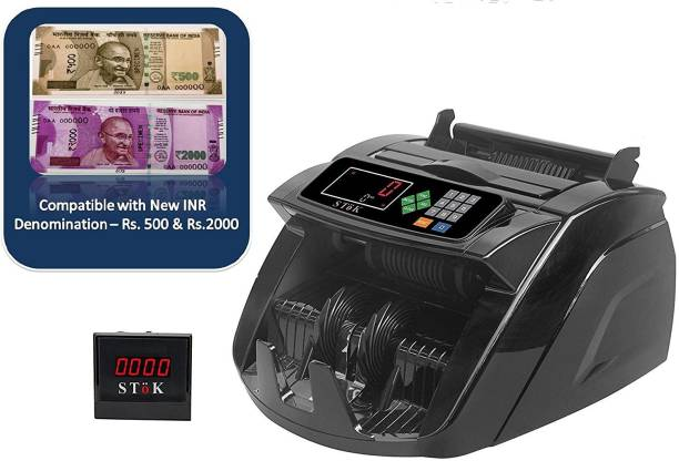 Stok ST-MC05 LCD Display Automatic Counterfeit Detector UV & MG Cash Bank Detector Note Counting Machine