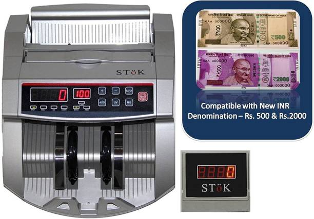 Stok ST-MC01-S LCD Display Counterfeit Detector UV & MG Cash Bank Detector Note Counting Machine