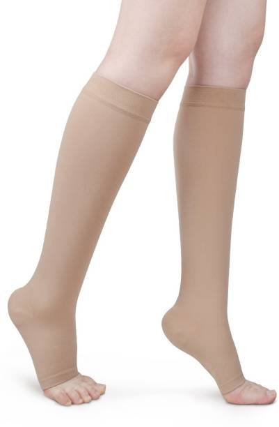 dd6473a1ef VibeX ® Medical Compression Socks High Open Toe, Toeless Stockings for  Swelling, Varicose Veins