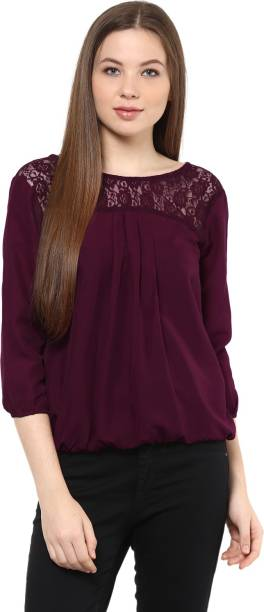 ca675dffd3ab67 Sheer Tops - Buy Sheer Tops Online at Best Prices In India ...