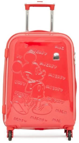 Gamme DISNEY RED MICKEY EMBOSS KIDS LUGGAGE TROLLEY BAG 20 INCH Trolley