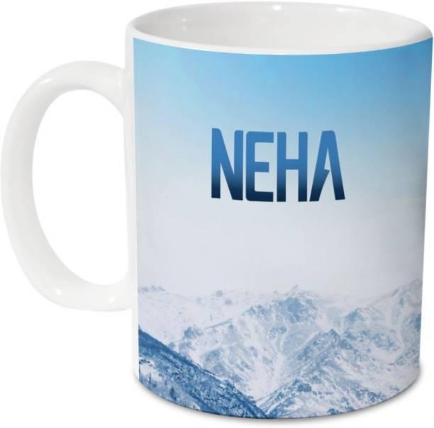 HOT MUGGS Me Skies - Neha Ceramic 350 ml, 1 Unit Ceramic Coffee Mug