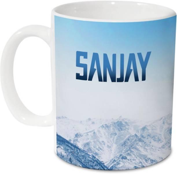 HOT MUGGS Me Skies - Sanjay Ceramic 350 ml, 1 Unit Ceramic Coffee Mug