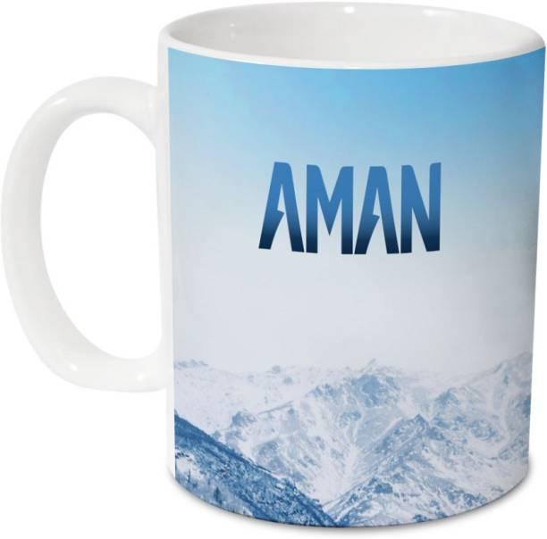 HOT MUGGS Me Skies - Aman Ceramic 350 ml, 1 Unit Ceramic Coffee Mug