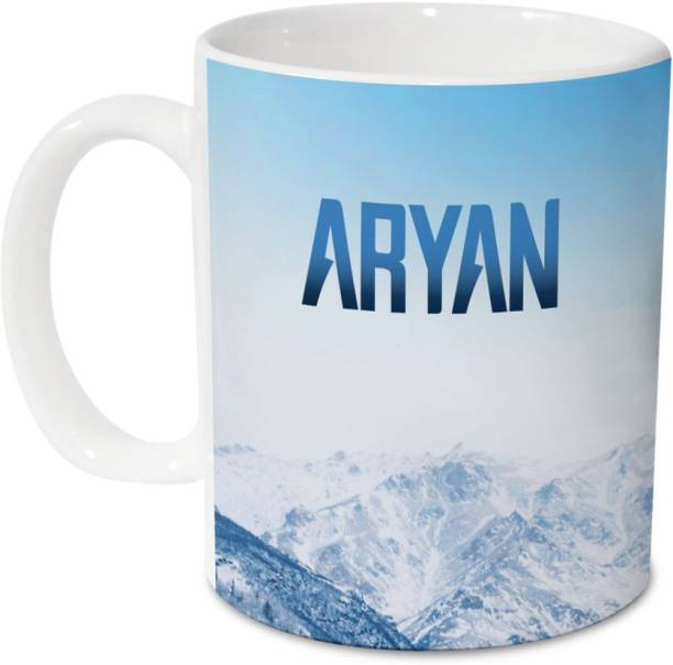 HOT MUGGS Me Skies - Aryan Ceramic 350 ml, 1 Unit Ceramic Coffee Mug