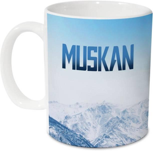 HOT MUGGS Me Skies - Muskan Ceramic 350 ml, 1 Unit Ceramic Coffee Mug
