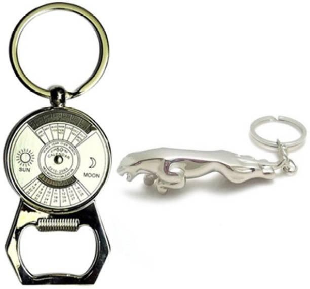 Chainz Calendar Bottle Opener and Metal Jaguar Key Chain
