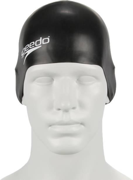 SPEEDO Unisex-Junior Plain Moulded Silicone Swimming Cap