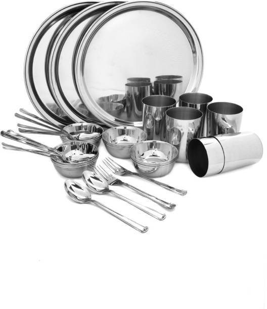 bhalaria Pack of 36 Stainless Steel Dinner Set