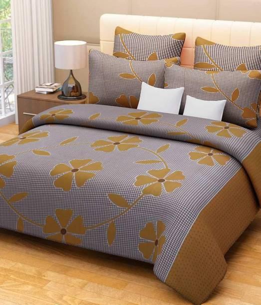 Decor World 150 Tc Cotton Double Printed Bedsheet