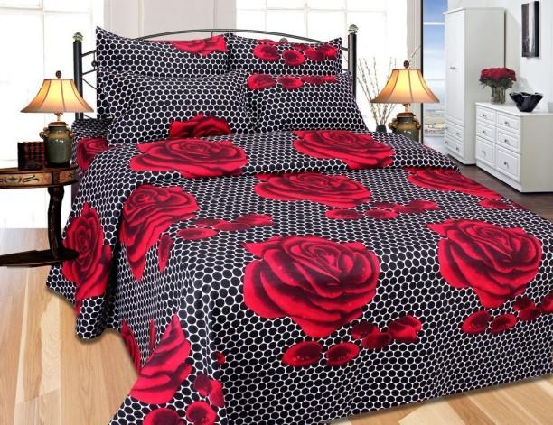 The Divine 185 TC Cotton Double King Floral Bedsheet