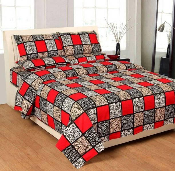 The Divine 185 Tc Cotton Double King Fl Bedsheet