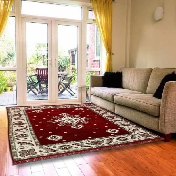 HOME BEST Multicolor Chenille Carpet