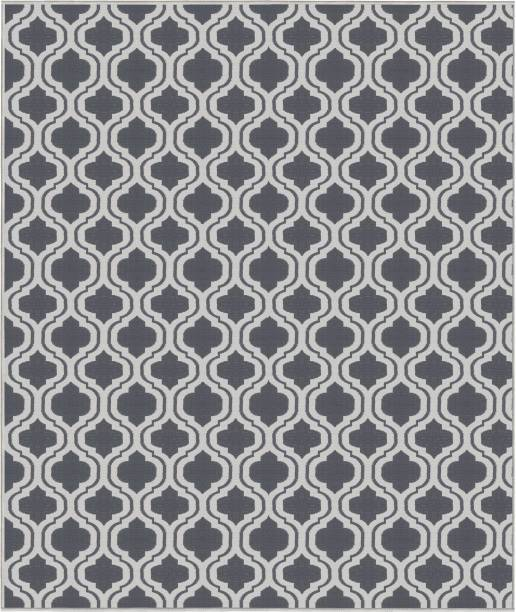Saral Home Grey Cotton Dhurrie