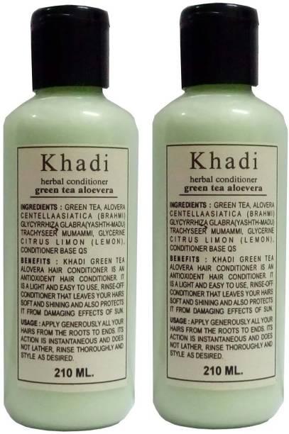 Khadi Herbal Green Tea Alovera Hair Conditioner
