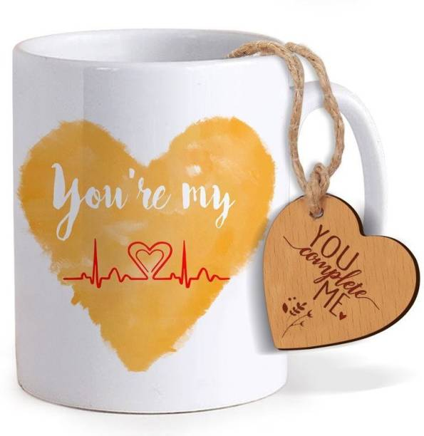 Tied Ribbons Best Birthday Gift For Boyfriend Coffee Mug325ml With Heart Shaped Wooden