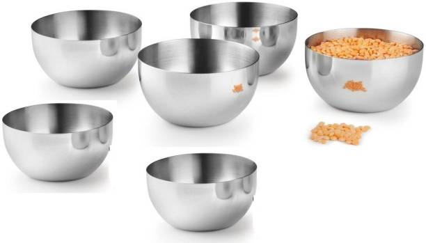 Classic Essentials Classic Essentials Veg bowl set of 6, 200 ml Stainless Steel Vegetable Bowl