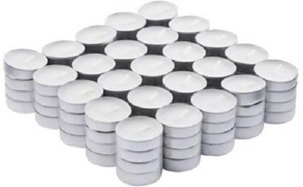 AuraDecor Pure Paraffin Wax Smokeless Multi purposes, 200 Tea Light Candles Candle
