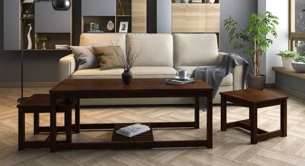 Urban Ladder Hevea Nested Solid Wood Coffee Table