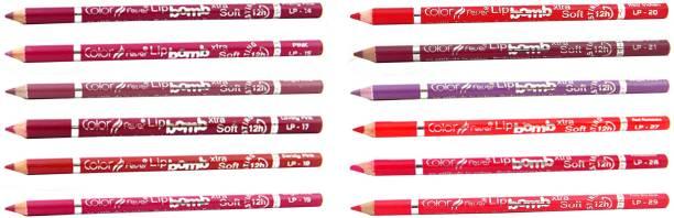 Color Fever Magenta Color Lip Liner Pencil 196