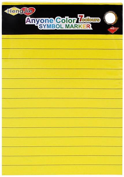 HengJie Self-Stick Sticky Note Pad, Ruled, Neon Colors, 6 x 4 inch, 140 Sheets Regular, 7 Colors