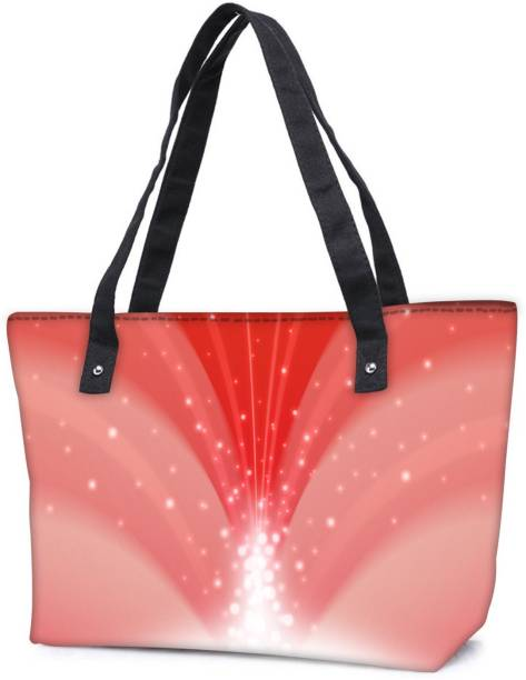 4eccb1dba06 Snoogg Pack Of 2 Dream Falls Cherry Combo Tote Shopping Grocery Bag With  Coin Pencil Purse