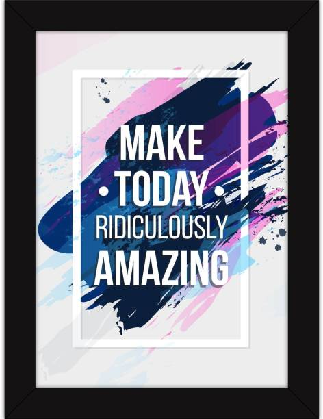 217cfd0426 Office Decor - Motivational Quotes Framed For Wall - Inspirational Poster -  Make Today Amazing Fine