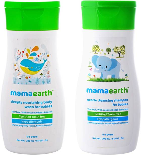 MamaEarth Gentle Cleansing Baby Shampoo Mamaearth Deeply Nourishing Baby wash-(0-5 Yrs)
