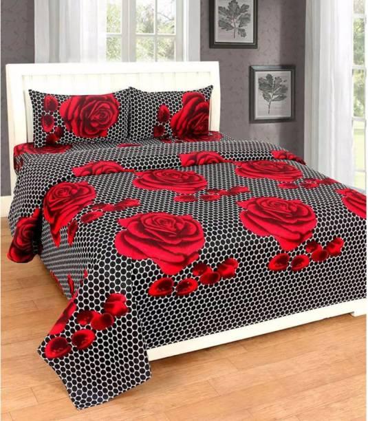 Casa Confort 144 Tc Cotton Double King Self Design Bedsheet