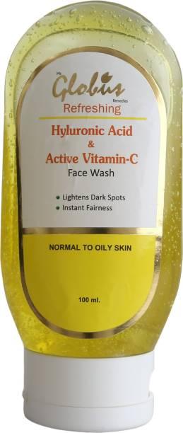 Globus Hyluronic Acid & Active Vitamin C  Face Wash