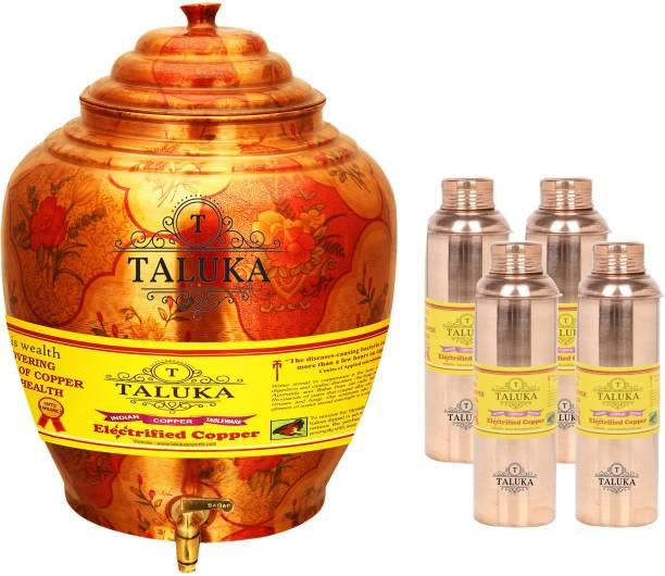f739733afd TALUKA Handmade Water Pot Dispenser Matka Water Tank Water Bisleri Design  Bottle - 19.2 L Copper