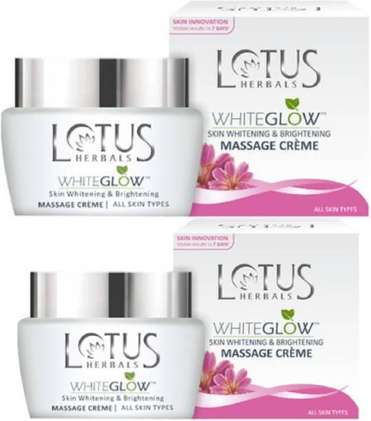 LOTUS White Glow Skin Whitening & Brightening Massage Creme