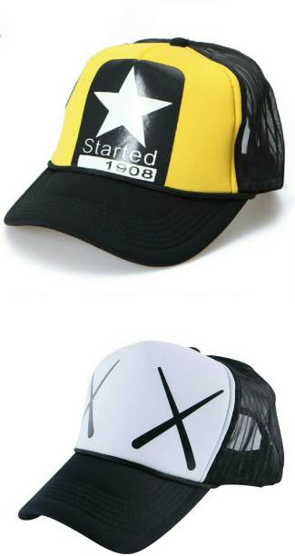 80751df89d6 Friendskart 2 Half Net Cap Printed Started 1908 and Double Xx in Baseball  Style For Boys