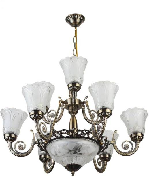 Chandeliers buy chandeliers online at best prices in india learc antique brass finish chandelier ceiling lamp aloadofball Choice Image