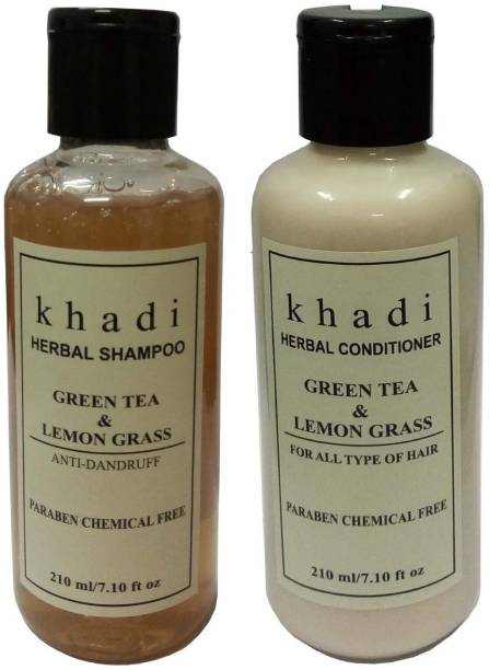 Khadi Herbal Hair combo Green tea & Lemon grass (Paraben Free)
