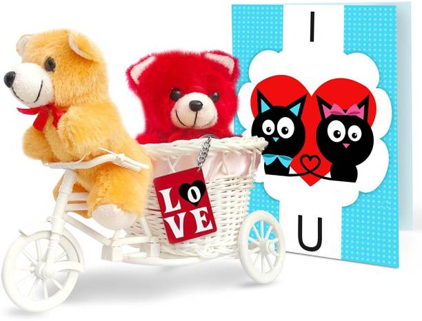Birthday gifts buy birthday gifts online at indias best online tied ribbons birthday gifts for girlfriend 2 teddy with cyclekeychain and greeting card soft negle Gallery