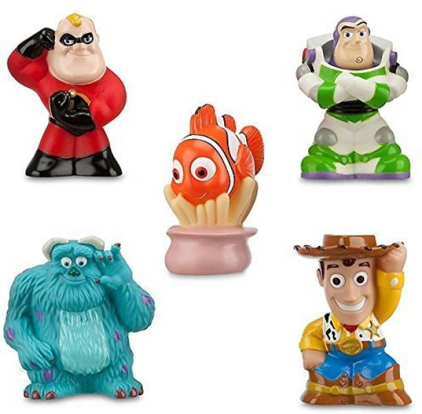 c66bafbb1d Disney Pixar Toy Story The Incredibles Finding Nemo Theme Park Exclusive Bath  Toy Set Bath Toy